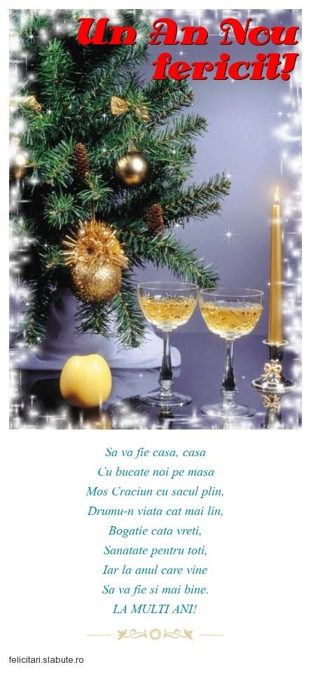 Poza felicitare Un An Nou fericit!
