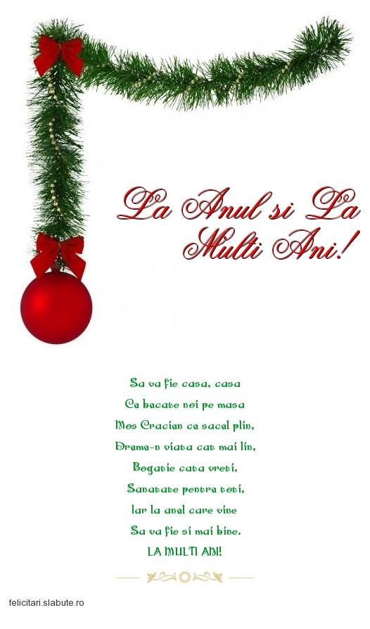 Poza felicitare La Anul si La Multi Ani!