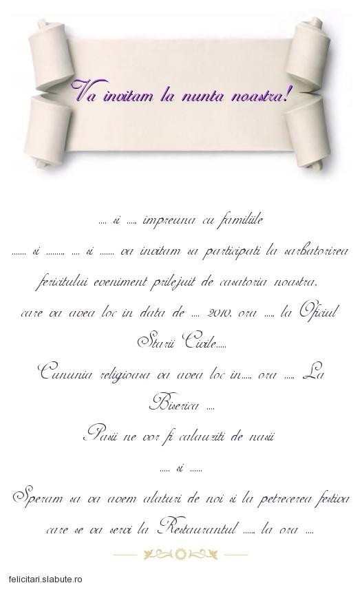 Poza felicitare Va invitam la nunta noastra!