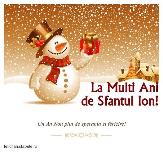 Poza felicitare La Multi Ani de Sfantul Ion!