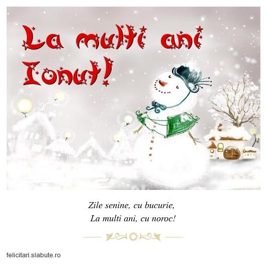 Poza felicitare La multi ani Ionut!