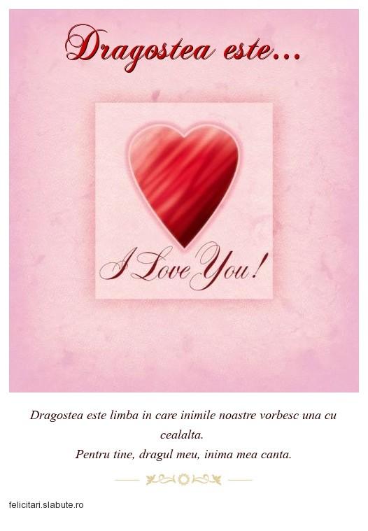 Poza felicitare Dragostea este...
