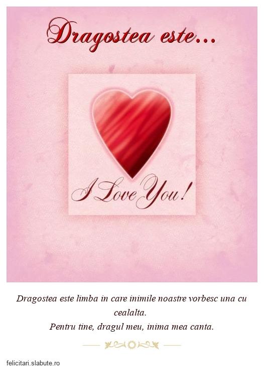 Dragostea este...