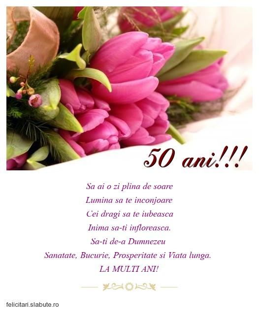 Poza felicitare 50 ani!!!