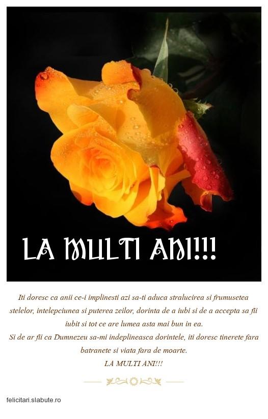 Poza felicitare LA MULTI ANI!!!