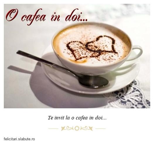 O cafea in doi...