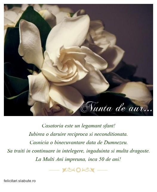 Poza felicitare Nunta de aur...