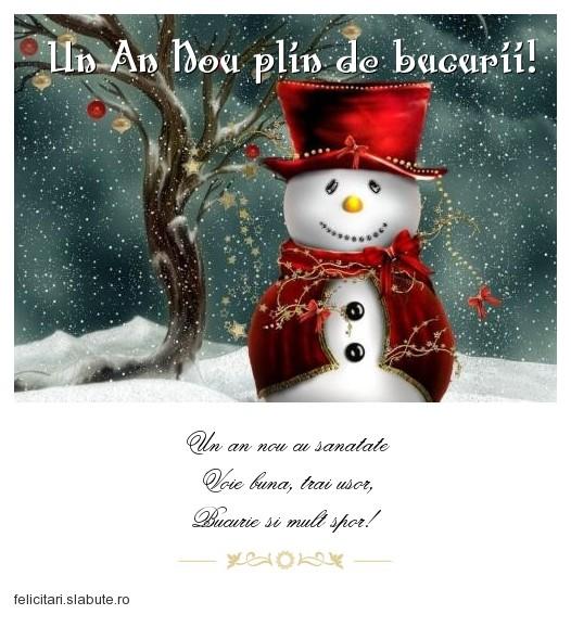Poza felicitare Un An Nou plin de bucurii!
