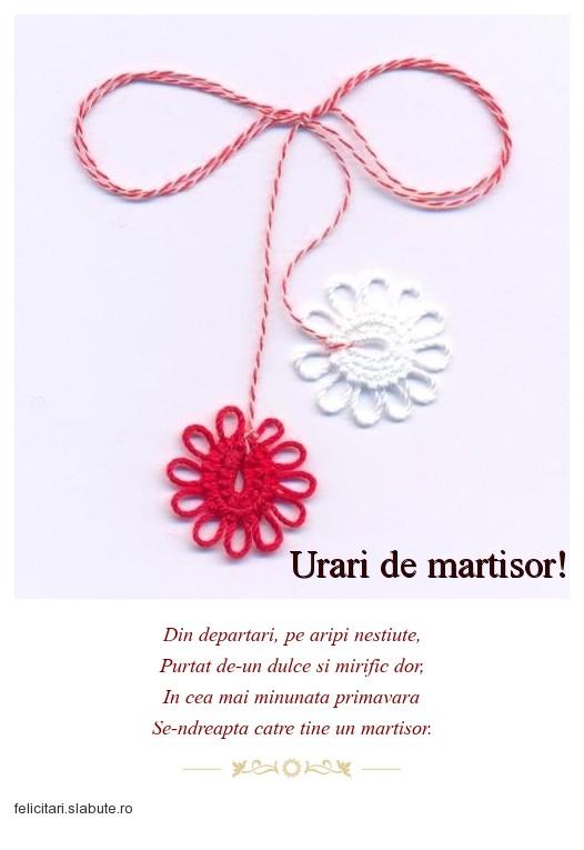 Poza felicitare Urari de martisor!