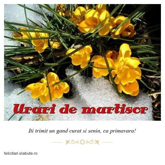 Poza felicitare Urari de martisor