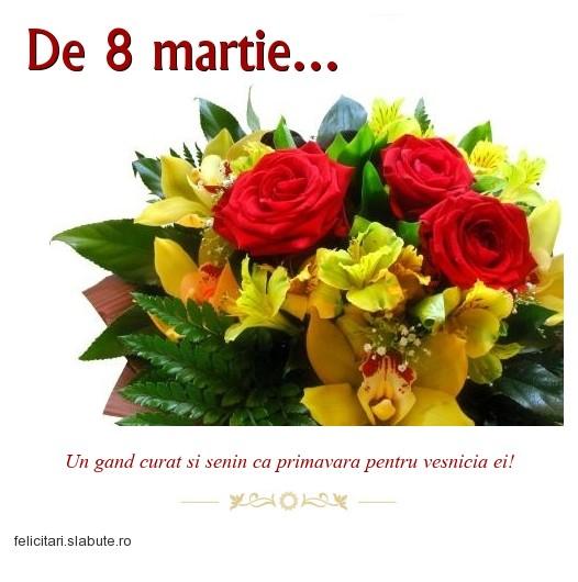 Va felicitam cu 8 Martie!