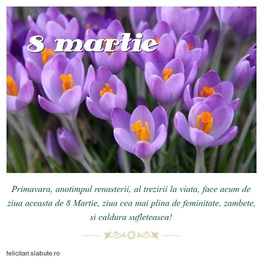 Poza felicitare 8 martie