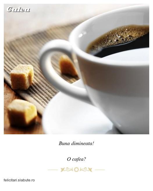 Poza felicitare Cafea