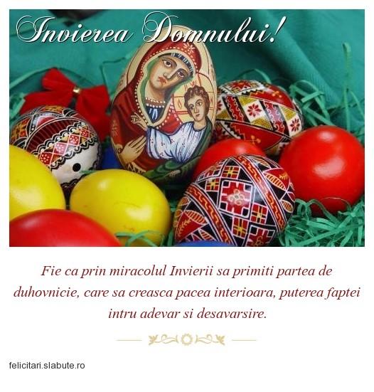 Poza felicitare Invierea Domnului!