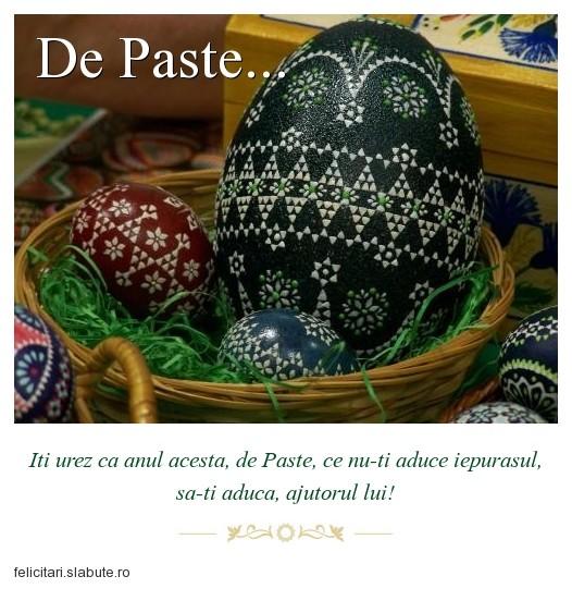 Poza felicitare De Paste...