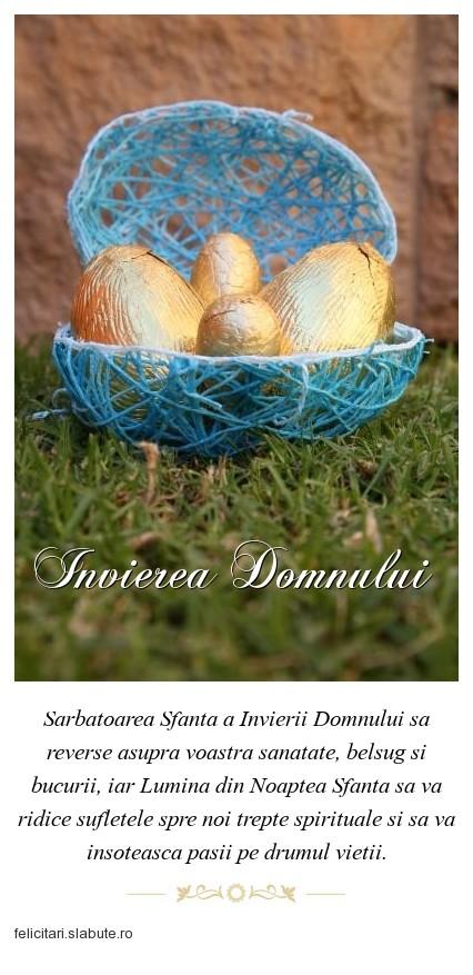 Poza felicitare Invierea Domnului