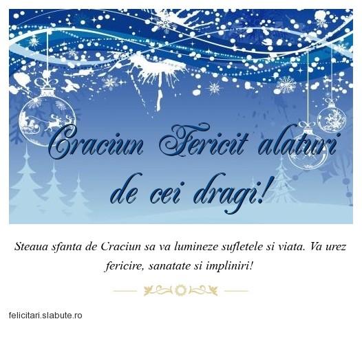 Poza felicitare Craciun Fericit alaturi de cei dragi!