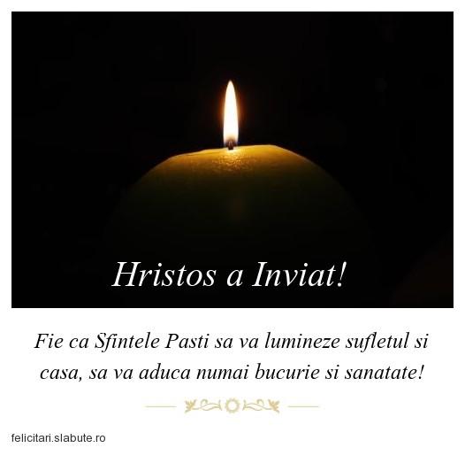 Poza felicitare Hristos a Inviat!