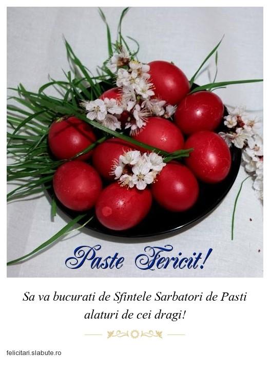Poza felicitare Paste Fericit!