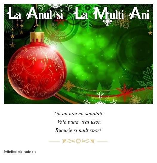 Poza felicitare La Anul si  La Multi Ani