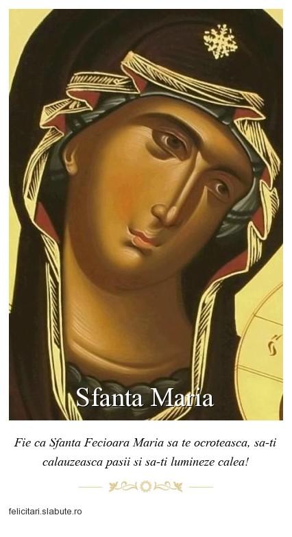 Poza felicitare Sfanta Maria