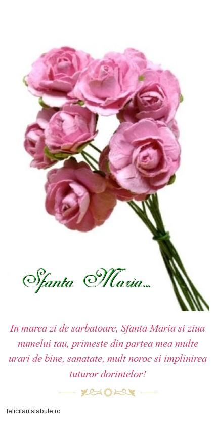Poza felicitare Sfanta Maria...