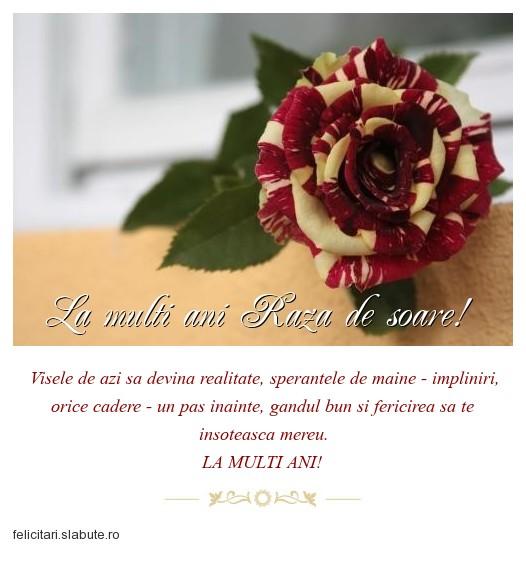 Poza felicitare La multi ani Raza de soare!