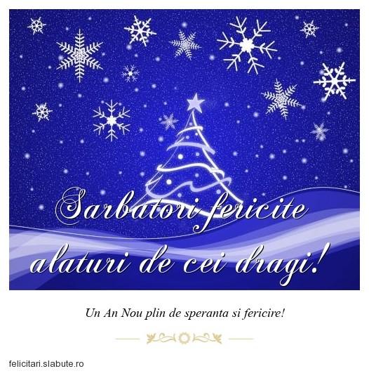 Poza felicitare Sarbatori fericite alaturi de cei dragi!