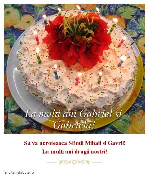 Poza felicitare La multi ani Gabriel si Gabriela!