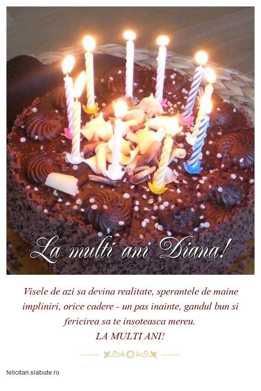 Poza felicitare La multi ani Diana!