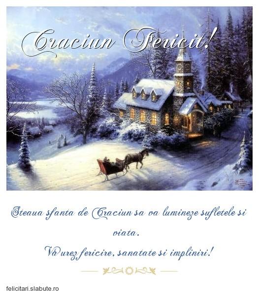 Poza felicitare Craciun Fericit!