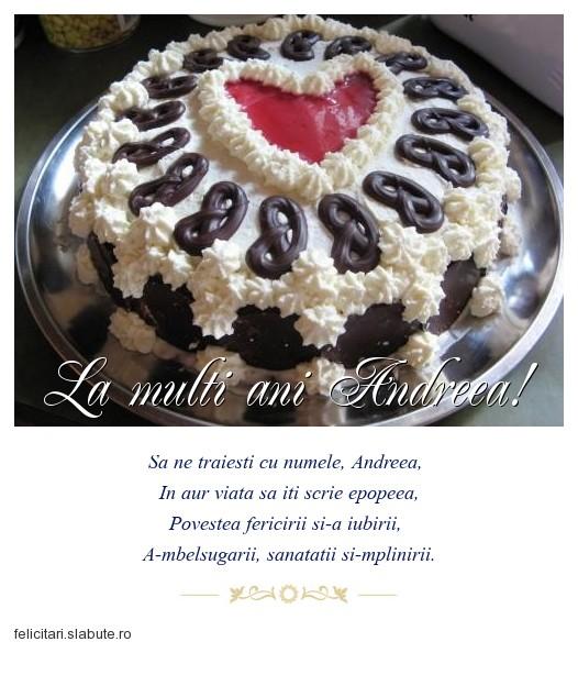 Poza felicitare La multi ani Andreea!
