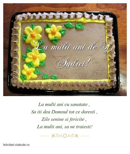 Poza felicitare La multi ani de Sf. Andrei!