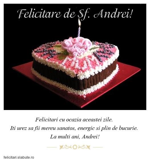 Poza felicitare Felicitare de Sf. Andrei!