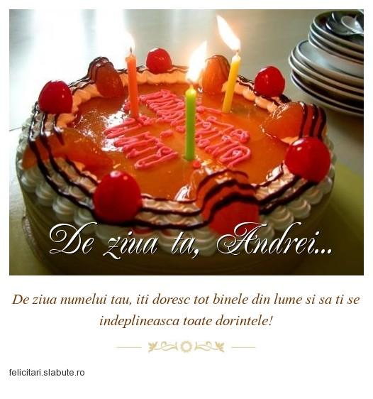 Poza felicitare De ziua ta, Andrei...
