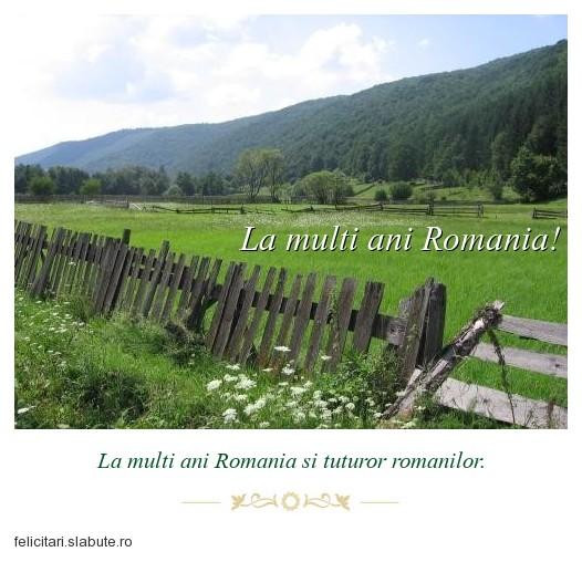 Poza felicitare La multi ani Romania!