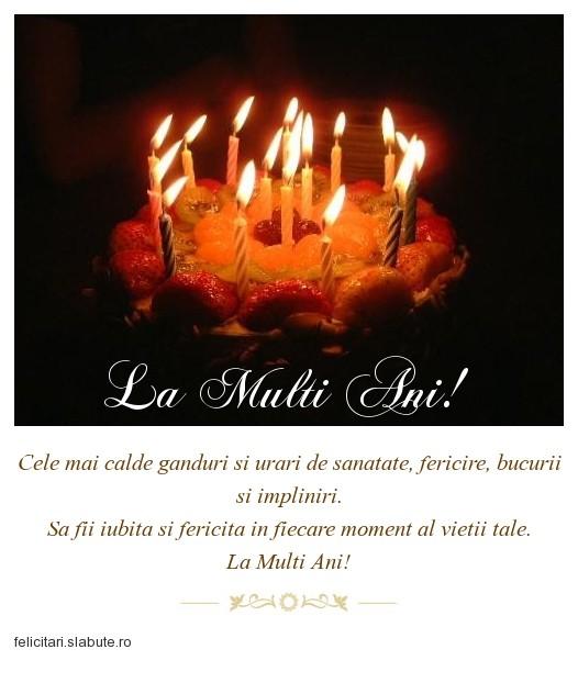 Poza felicitare La Multi Ani!