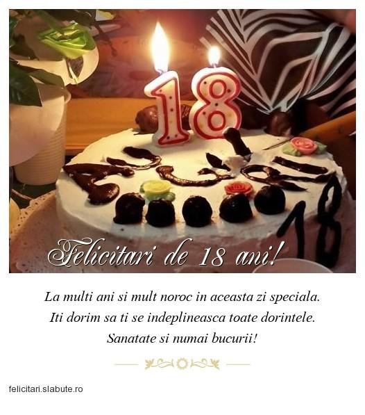 Poza felicitare Felicitari de 18 ani!
