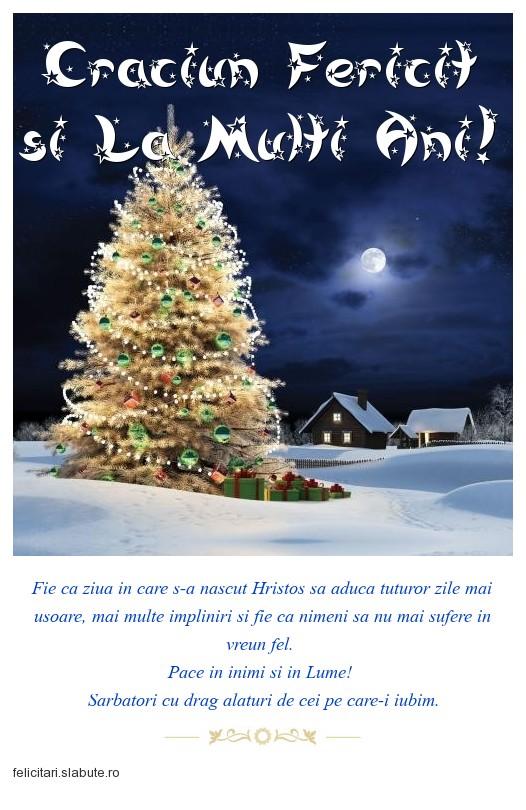 Poza felicitare Craciun Fericit si La Multi Ani!