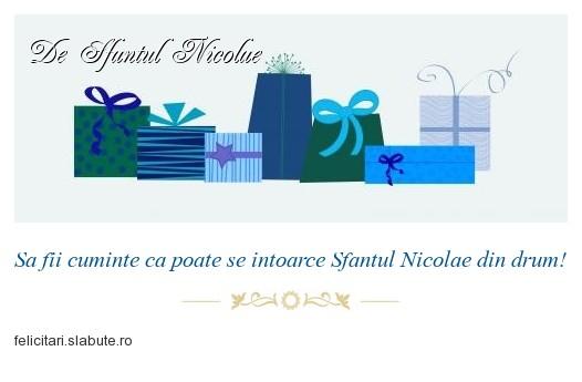 Poza felicitare De Sfantul Nicolae