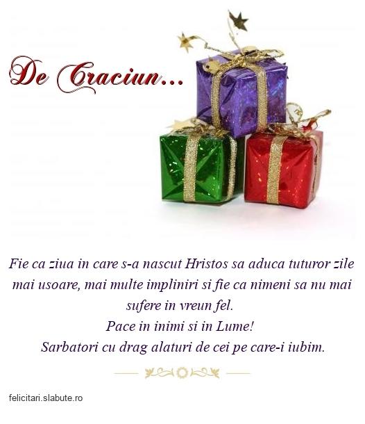 De Craciun...