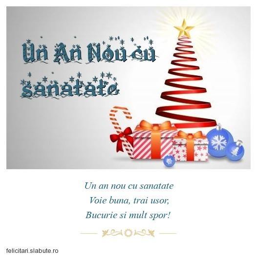 Poza felicitare Un An Nou cu sanatate