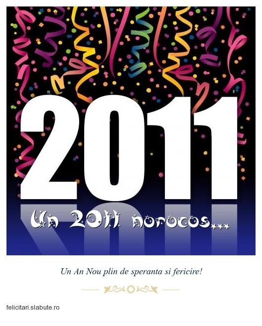 Poza felicitare Un 2011 norocos...
