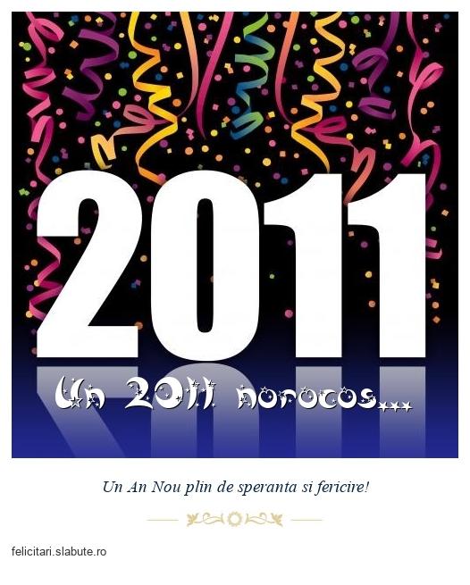 Un 2011 norocos...