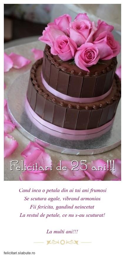 Poza felicitare Felicitari de 25 ani!!!