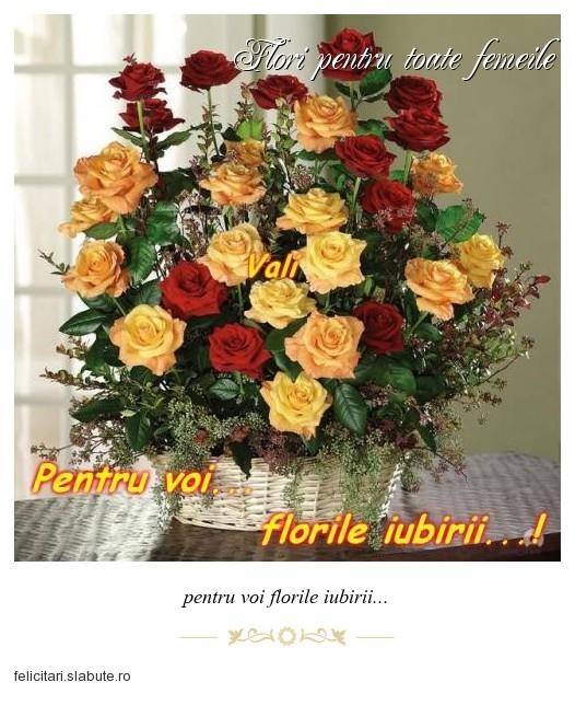 Poza felicitare Flori pentru toate femeile