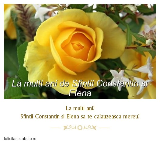 Poza felicitare La multi ani de Sfintii Constantin si Elena