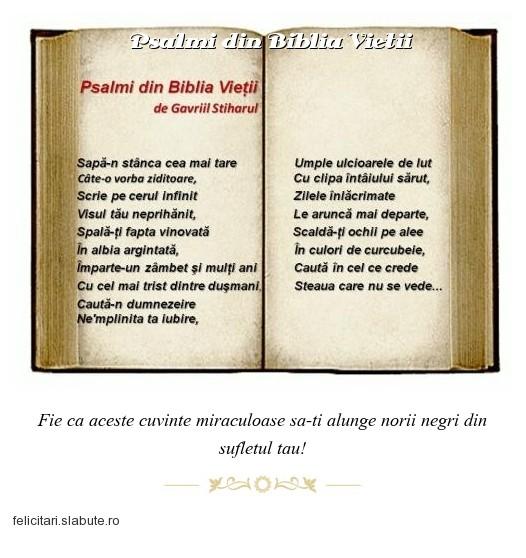 Poza felicitare Psalmi din Biblia Vietii
