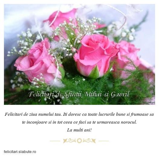 Poza felicitare Felicitari de Sfintii Mihai si Gavril