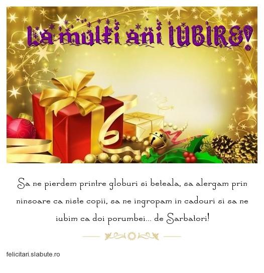 Poza felicitare La multi ani IUBIRE!